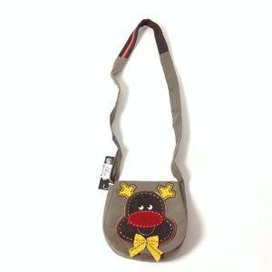 New Women's Crossbody Bag Gray Brown Yellow